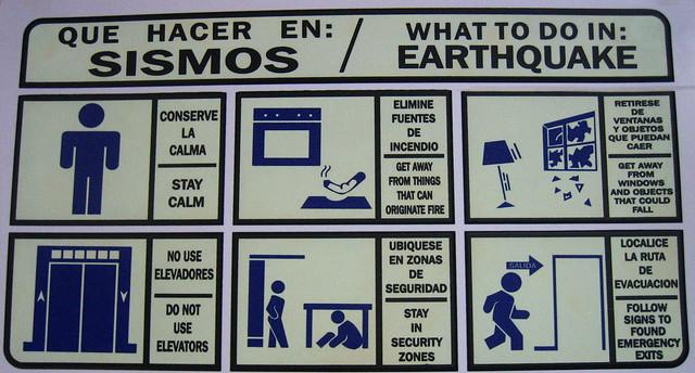 Antonio sotelo what to do in earthquake
