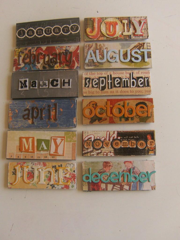 School Days Pereptual Calendar Months