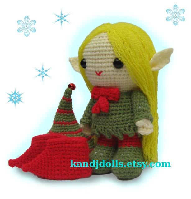 Amigurumi elf with hat Flickr - Photo Sharing!