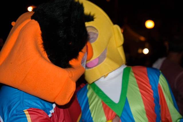 bert and ernie kissing flickr photo sharing. Black Bedroom Furniture Sets. Home Design Ideas