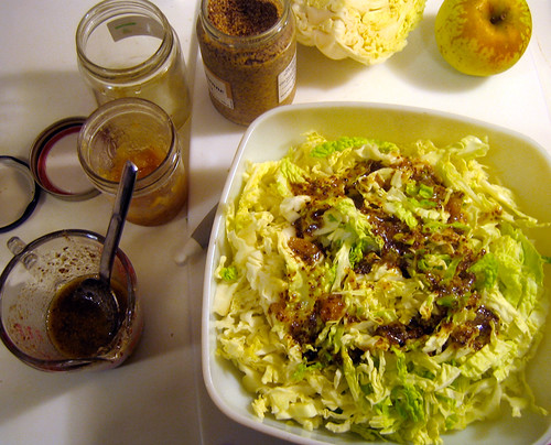 napa mustard slaw with apple