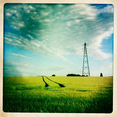 field landscape 365 champ electricpole iphone iphone4 iphone365 poteauelectriques