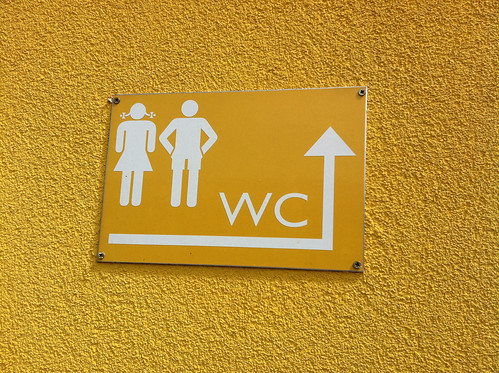 WC sign Horitschon Austria Railway Station