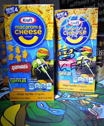 "Kraft Macaroni & Cheese :: ""TEENAGE MUTANT NINJA TURTLES"" Shapes ; ""RAPHAEL"" box  (( 2014 ))"