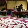 Improv Slice and Insert workshop today! #quiltingmodern