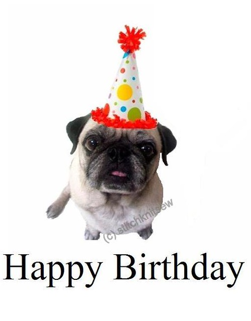 Printable Pug Birthday Card