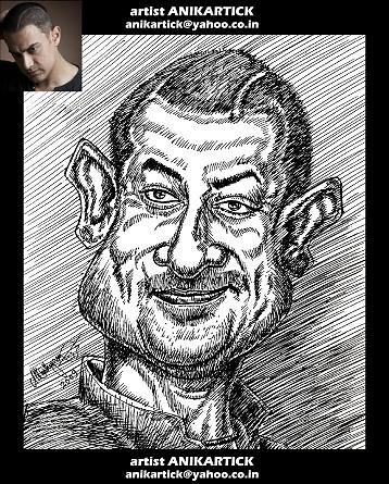 AMIR KHAN caricature