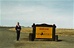 State Line 8, Phillip at the New Mexico state line, 1987
