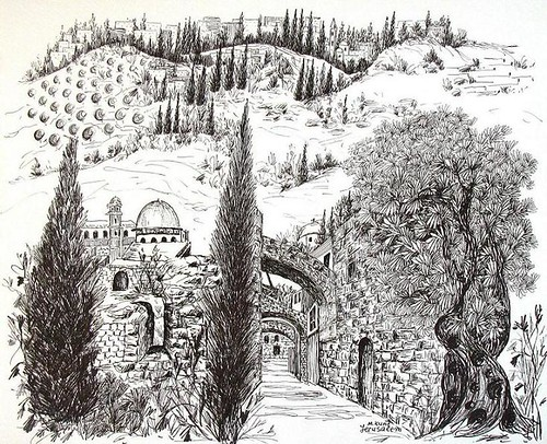 Line Art Jerusalem : Chronicles dwelling in the word
