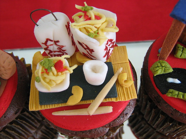 chinese takeout and fortune cookie cupcake | Flickr - Photo Sharing!