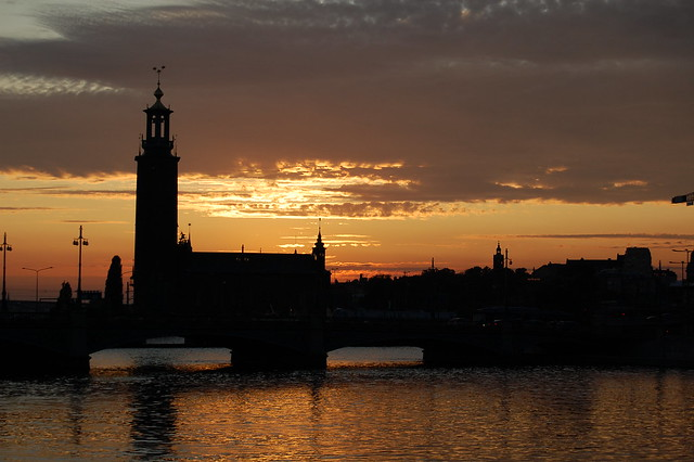 Sunset in Stockholm