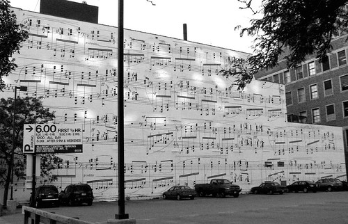 Music Notes - black and white
