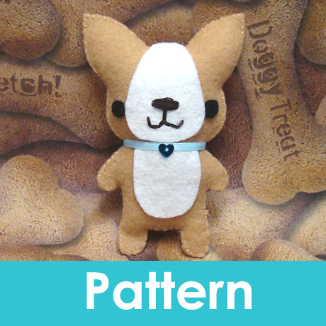 Felt Dog Patterns http://www.flickr.com/photos/amigurumikingdom/3993989171/