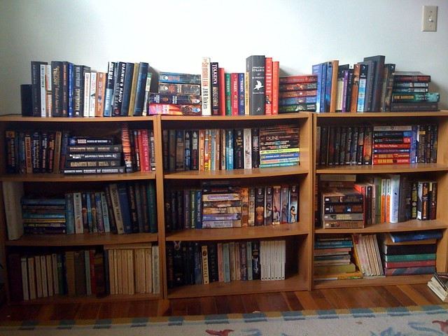 the scifi fantasy bookcases flickr photo sharing