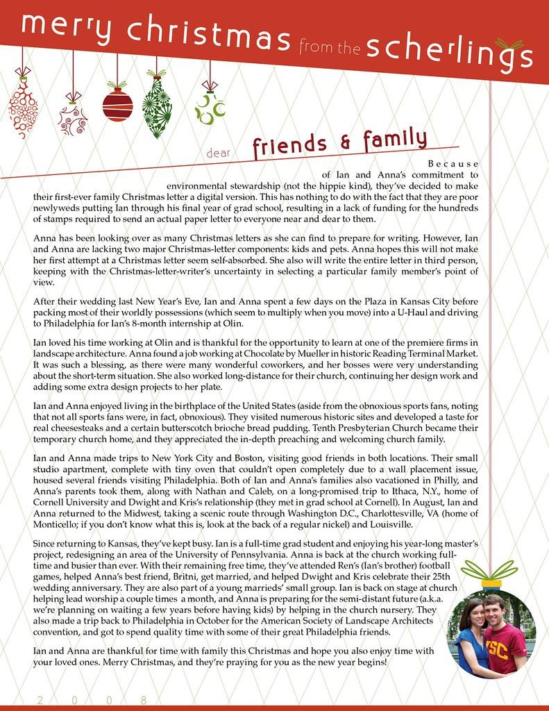 2008 christmas letter