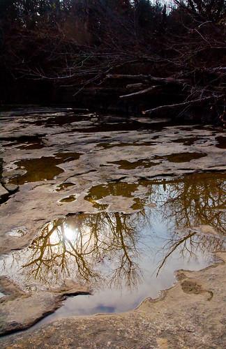 reflection water kansas rockformation elkfalls