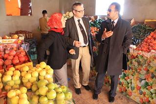 Fruktaffär i Gaza city