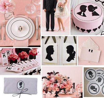 Pink and Black cameo decor