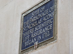 Photo of St. Mary Woolchurch Haw, London blue plaque