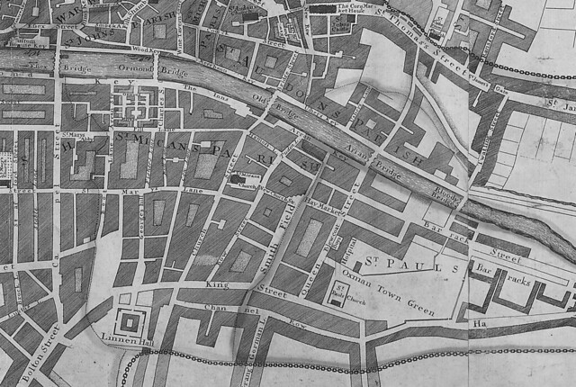 Brooking's Map of Dublin, 1728