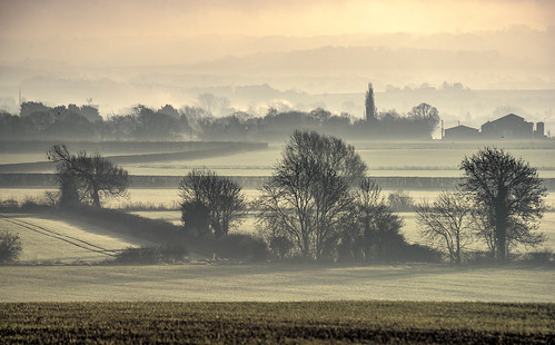landscape scenic sunrise oxfordshire unitedkingdom