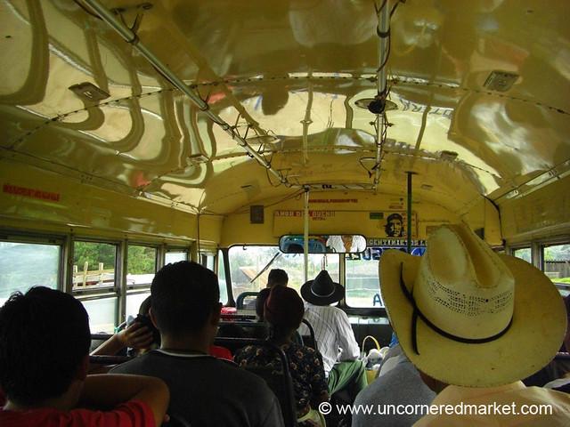 Inside the Chicken Bus - Marcala, Honduras