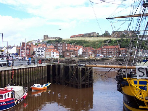 Whitby from swing bridge