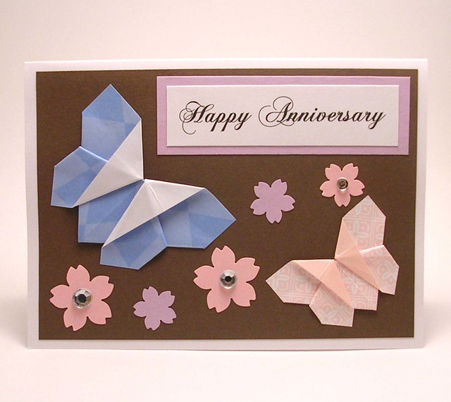 Origami butterfly anniversary card flickr photo sharing