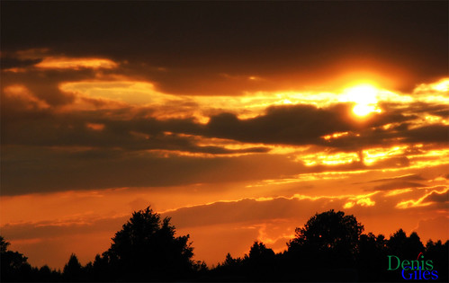 blue trees light sunset sky orange sun ontario canada storm clouds canon dark chatham powershots3 denisgiles