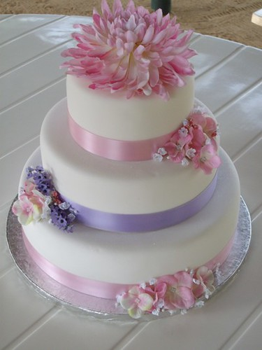 fake flowers for wedding cakes 3 tier wedding cake with silk flowers flickr photo 14116