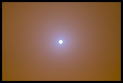 Photograph directly to sun through dust storm&