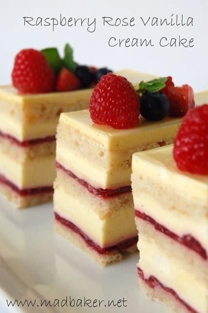 raspberry rose vanilla cream cake flickr photo sharing