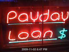 Payday Loans Neon Sign