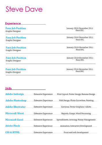 44 amazing resume cv examples resume layout page one yelopaper Image collections