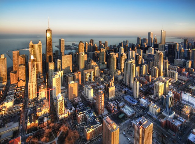 Chicago from a Chopper