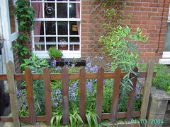 home fencing, flower, garden, picket fence, property, landscaping,