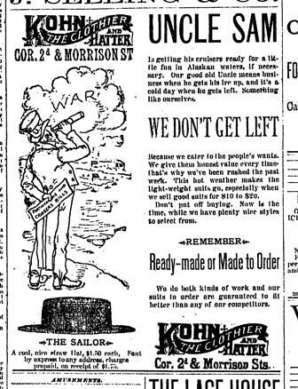 Uncle Sam We Don't Get Left - May 31 1889 Oregonian