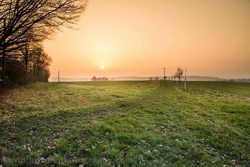 sunset orange mist march spring unitedkingdom farming peaceful hampshire agriculture 2014 kingssomborne testvalley blinkagain