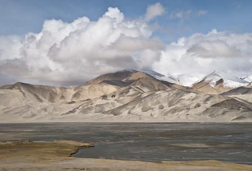 china sky cloud lake water landscape sand nikon highway altitude kkh tamron pamir karakorum d80