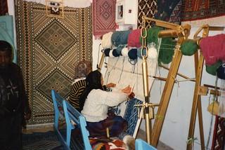 Carpet weavers at Kairouan