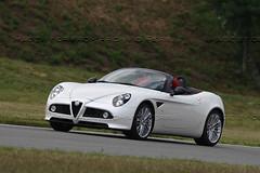 family car(0.0), mercedes-benz slr mclaren(0.0), automobile(1.0), alfa romeo(1.0), vehicle(1.0), automotive design(1.0), alfa romeo 8c(1.0), alfa romeo 8c competizione(1.0), land vehicle(1.0), supercar(1.0), sports car(1.0),