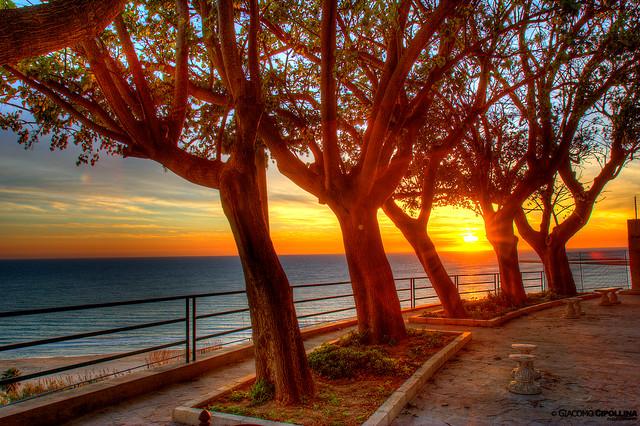 tramonto gela hdr