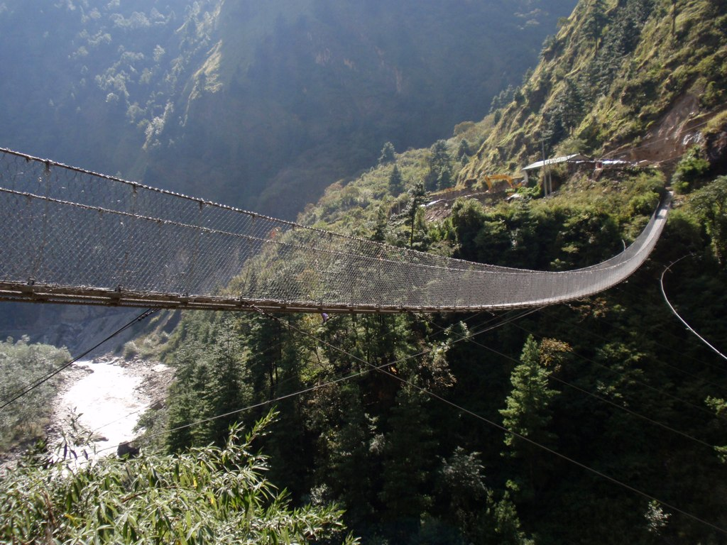 Suspension Bridge Over the Kali Gandaki Valley