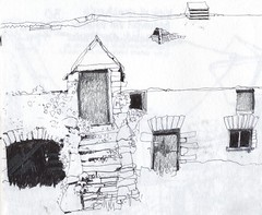 Anglesey Ruined Building 09 pen, ink & pencil by skyeshell