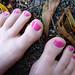 pink pedicure