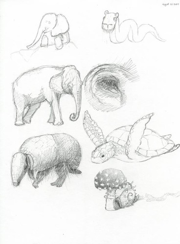 Animals Mixed Together Drawings