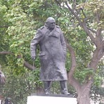 Statue of Winston Churchill - Parliament Square plus David Lloyd George