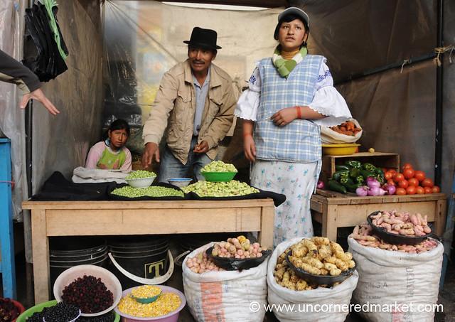 Friendly Family of Vendors - Otavalo Market, Ecuador