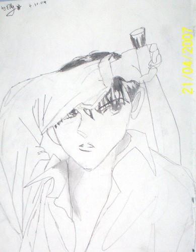 angry anime boy