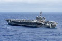 USS Carl Vinson (CVN 70) transits the Philippine Sea, Feb. 14. (U.S. Navy/MC3 Kurtis A. Hatcher)